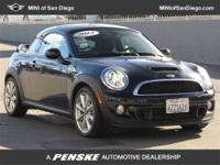 This 2013 MINI Cooper Coupe 2dr 2dr S Coupe features a