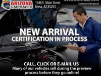 **CERTIFIED! 30 MONTH/50,000 MILE WARRANTY INCLUDED!**