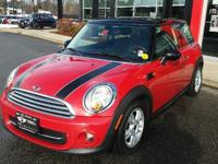 FUEL EFFICIENT 36 MPG Hwy/28 MPG City! MINI Certified,
