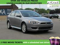 This 2013 Mitsubishi Lancer Sportback ES will sell fast