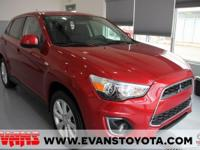 RED 2013 Mitsubishi Outlander Sport ES FWD CVT with