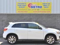 CARFAX One-Owner. White 2013 Mitsubishi Outlander Sport