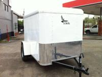 5' x 8' Single Axle NEW ENCLOSED TRAILER- WHITE 2000lb