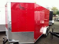 2013 BRAND NEW 7 x 14 +V-nose Enclosed Cargo Trailer