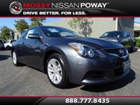 Altima 2.5 S, Nissan Certified, 2D Coupe, Metallic