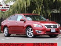 2013 Nissan Altima Red  CARFAX One-Owner. CVT with