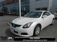 Altima 2.5 S, Nissan Certified, 2D Coupe, 2.5L I4 DOHC