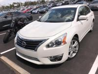 Just Reduced! This 2013 Nissan Altima in Pearl White