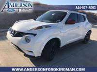 This Nissan JUKE has a dependable Gas Turbocharged I4