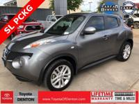 CARFAX One-Owner. Grey 2013 Nissan Juke SL FWD CVT with