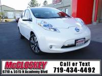 ONE OWNER, ONLY 31K Miles! 2013 Nissan Leaf! Leather,