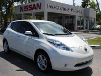 Clean CARFAX. Pearl White 2013 Nissan Leaf SV FWD