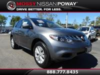 Murano S and Gun Metallic. Come to Mossy Nissan of