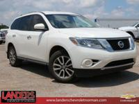 Moonlight White 2013 Nissan Pathfinder S FWD CVT with