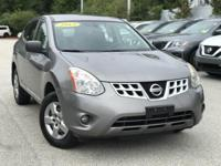 2013 Nissan Rogue Gray 27/22 Highway/City MPG Clean