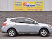 2013 Nissan Rogue S  in Frosted Steel Metallic, CLEAN