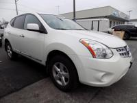 Pearl White 2013 Nissan Rogue S FWD CVT 2.5L I4 DOHC