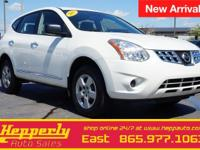 Clean CARFAX. This 2013 Nissan Rogue S in Pearl White