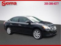 Certified. Black 2013 Nissan Sentra SL FWD CVT with