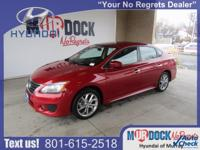 Red 2013 Nissan Sentra S FWD CVT with Xtronic 1.8L