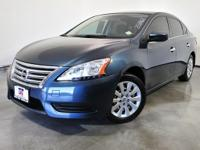Clean CARFAX. Blue 2013 Nissan Sentra SV FWD CVT with