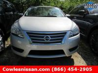 Sentra SV, Nissan Certified, 4D Sedan, CVT with
