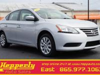 This 2013 Nissan Sentra S in Brilliant Silver features.