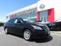 CARFAX One-Owner. Super Black 2013 Nissan Sentra SV FWD