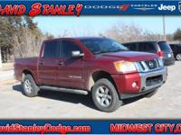 Clean CARFAX. Red 2013 Nissan Titan SV 4WD Automatic