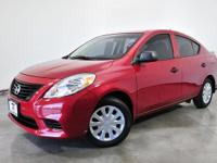 Clean CARFAX. Red Brick 2013 Nissan Versa 1.6 S Plus