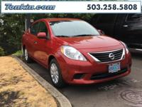 WOW!!! Check out this. 2013 Nissan Versa Red 1.6L I4