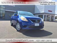 Blue 4D Sedan 2013 Nissan Versa 1.6 SV FWD CVT with