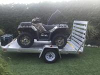 2013 Polaris sportsman 550EFI quad with power steering,