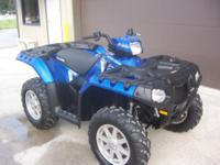 2013 polaris sportsman 850 ho eps only 218 miles, with