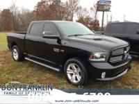 2013 Ram 1500 Sport Black CARFAX One-Owner. Fully