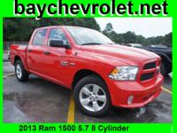 Exterior Color: flame red clear coat, Body: Crew Cab
