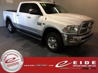 This 2013 Ram 2500 Laramie Crew Cab is Bright White