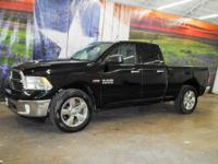 *Rule the roads in this bold black 2013 Ram 1500 Big