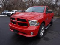 HEMI 5.7L V8 Multi Displacement VVT. Short Bed! Red