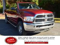 This Ram 2500 delivers a Turbocharged Diesel I6