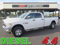 From work to weekends, this White 2013 Ram 3500 SLT