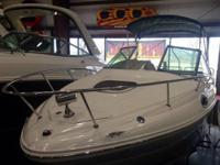 The Sea Ray 240 Sundancer Powered with a Mercury 350