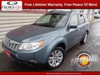 Good News! This 2013 Forester is a certified CARFAX