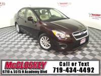 Impress in this Impreza! All Wheel Drive, All Weather