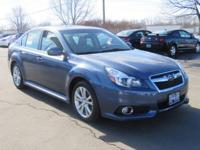 SUBARU CERTIFIED and CLEAN CARFAX. Legacy 2.5i Limited,