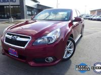 Options:  2013 Subaru Legacy 3.6R|Red|9 Speakers|Am/Fm