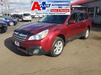 CARFAX One-Owner. Clean CARFAX. Red 2013 Subaru Outback