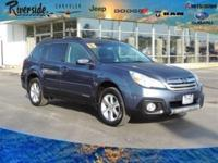 New Price! CARFAX One-Owner. 2013 Subaru Outback 2.5i