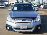 Options:  2013 Subaru Outback 2.5I|Silver|New Price!