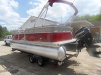 2013 Sunchaser DS 20 Pontoon. 90 Horse Evinrude Etec